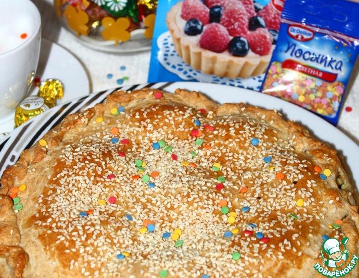 Рецепт: Итальянский пасхальный творожный пирог