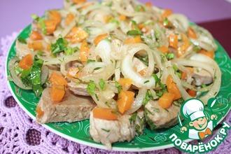 Рецепт: Мясная закуска Холодный шашлык
