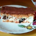 Творожный десерт с черносливом