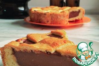 Рецепт: Пирог с шоколадной начинкой