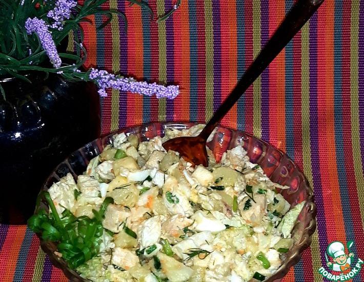 Рецепт: Салат картофельный с курицей