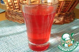 Рецепт: Морс из розового крыжовника