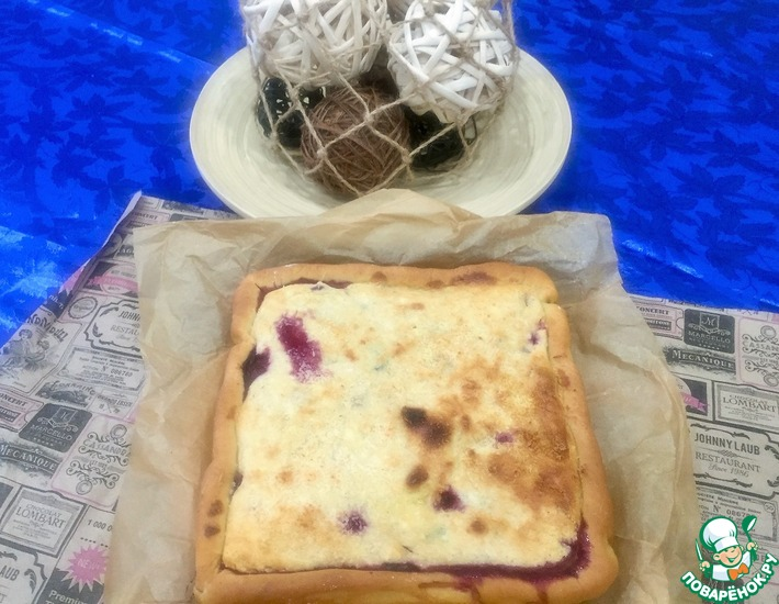 Рецепт: Вишнёвый пирог с кокосом Для вас