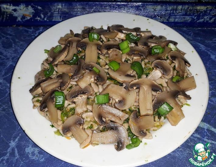 Рецепт: Макароны с грибами и овощами