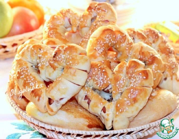 Рецепт: Пирожки и сладкие булочки с мармеладом
