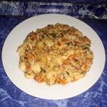 Лобио с морковью, помидорами и кинзой