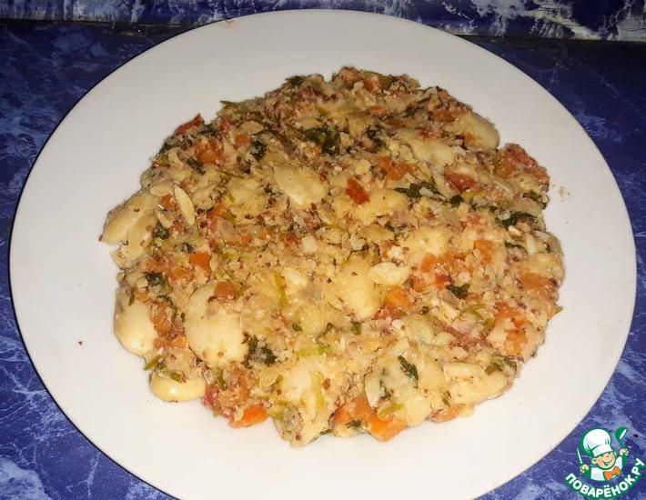 Рецепт: Лобио с морковью, помидорами и кинзой