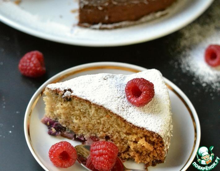 Рецепт: Пирог с кокосом и ягодами