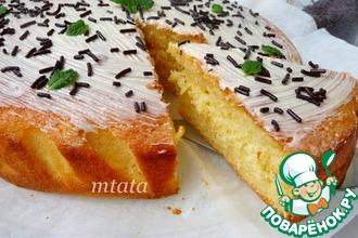 Рецепт: Пирог простой творожный