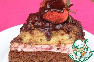 Рецепт: Торт клубничный «Шанс»