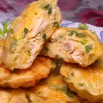 Маффины с куриной грудкой и сыром