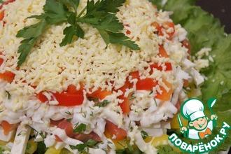 Рецепт: Салат с форелью и фетаксой