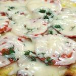 Быстрая весенняя пицца на сковороде