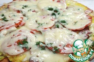 Рецепт: Быстрая весенняя пицца на сковороде