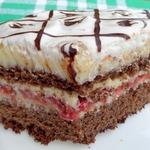 Черемухово-клубничный торт