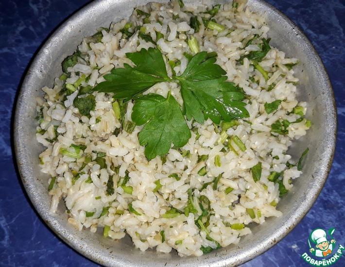 Рис с рукколой