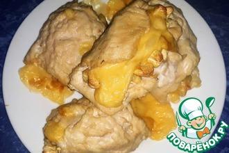 Рецепт: Куриные рулеты с сыром и кешью