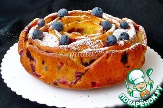 Рецепт: Быстрый ягодный пирог
