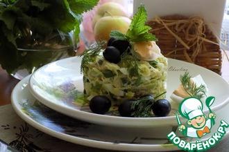 Рецепт: Салат с авокадо и яйцом