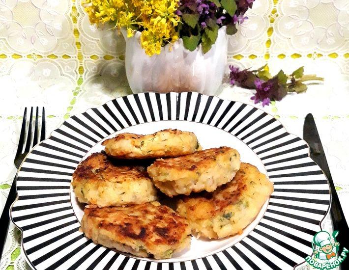 Рецепт: Картофельно-кабачковые котлеты на гарнир