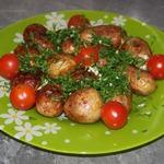 Молодой картофель жареный целиком Ароматный