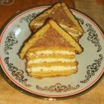 Творожный десерт с печеньем Избушка
