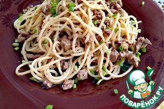 Рецепт: Спагетти Семейный обед