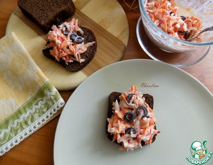 Рецепт: Закуска из редиса и моркови