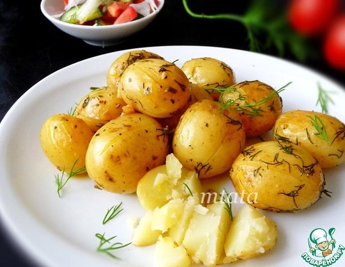 Рецепт: Молодой картофель в рукаве