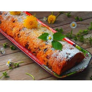 Двухцветный кекс с начинкой из джема