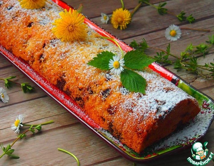 Рецепт: Двухцветный кекс с начинкой из джема