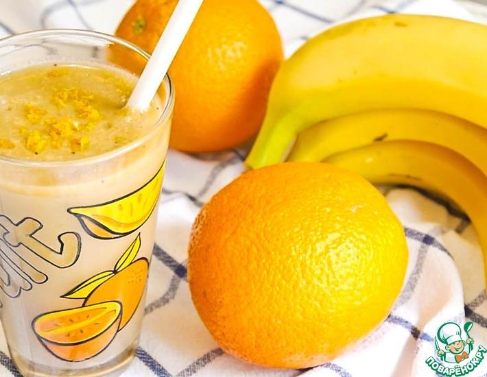 Смузи с бананом, апельсином, имбирем