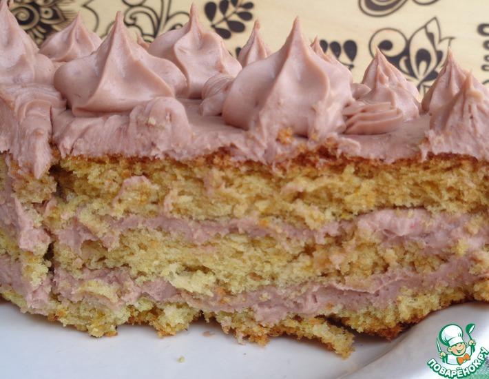 Рецепт: Торт «Для влюбленных в жизнь»