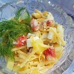Салат из крабового мяса с ананасами