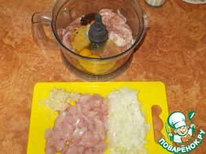 Куриная колбаса в СВЧ ингредиенты