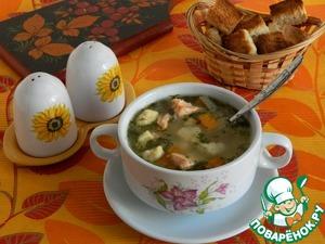 И сухарики кстати пришлись. Внучка попросила, очень любит супы кушать с сухариками и с ней не поспоришь. Клецки очень нежные, это не кусочек теста, а что то воздушное и невесомое.