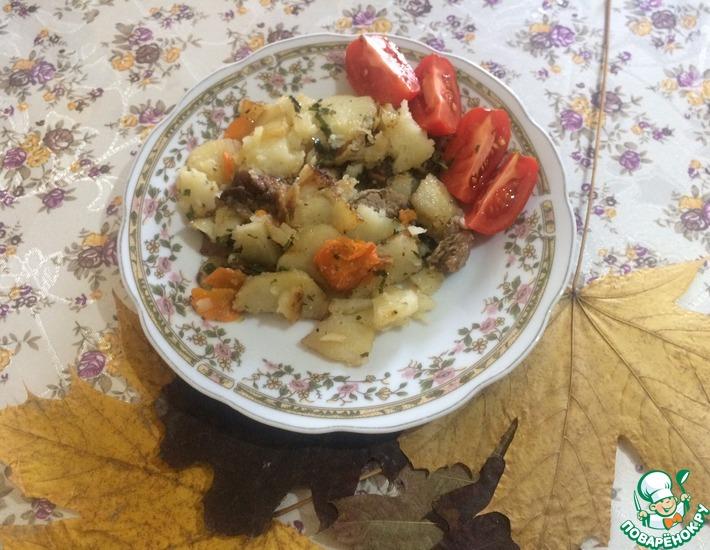 Рецепт: Жареный картофель с мясом