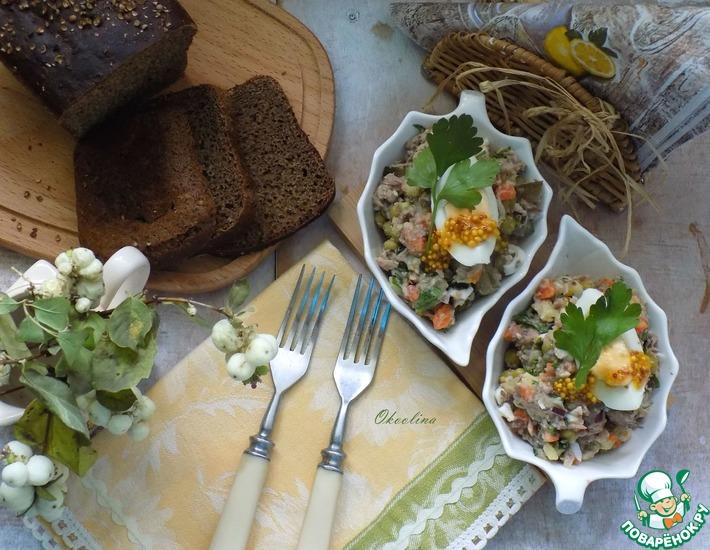 Рецепт: Картофельный салат с тунцом