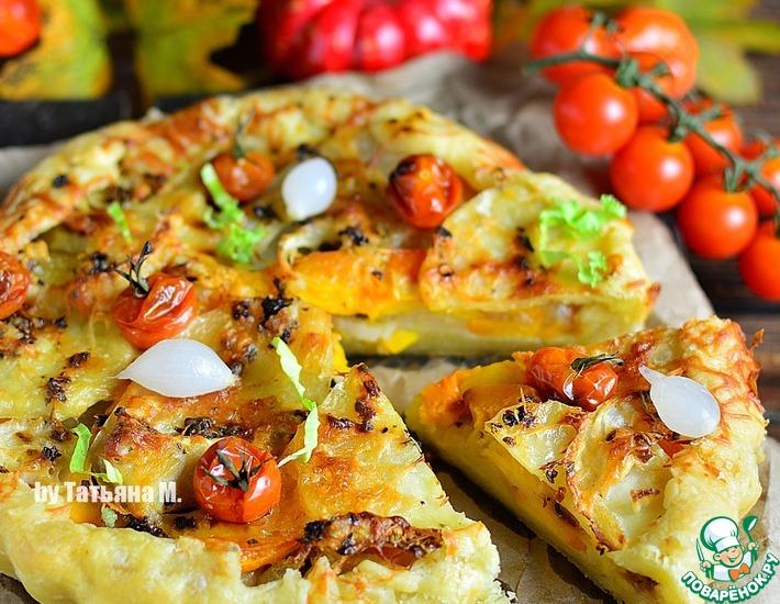 Рецепт: Галета с осенними овощами и пармезаном