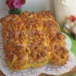 Тыквенные булочки с ветчиной и сыром
