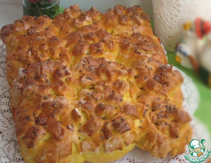 Рецепт: Тыквенные булочки с ветчиной и сыром