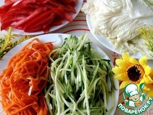 Салат-закуска в пекинской капусте фото