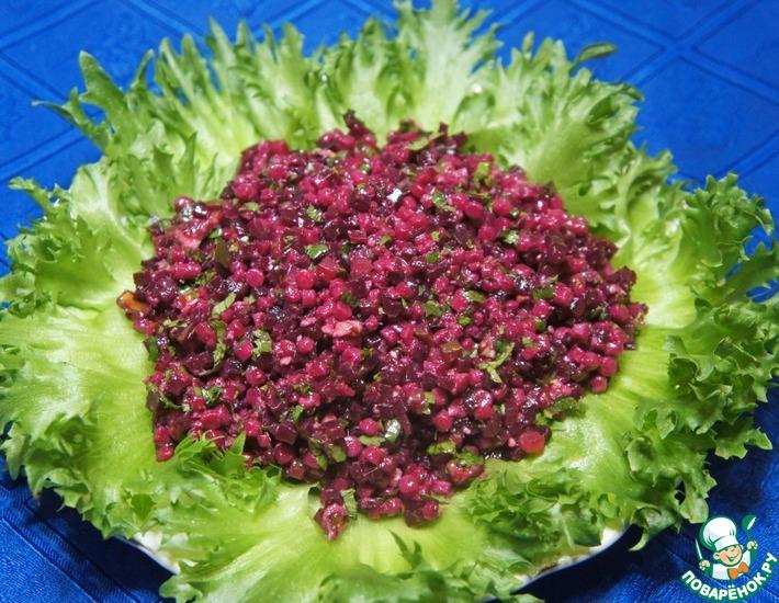 Рецепт: Салат из птитима со свеклой