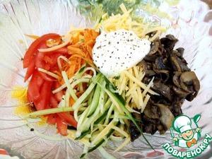 Салат-закуска в пекинской капусте Салат-закуска