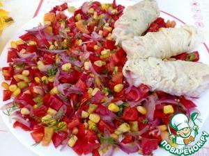 Салат-закуска в пекинской капусте Капуста пекинская