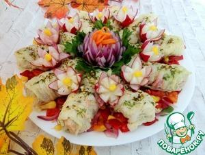 Салат-закуска в пекинской капусте Морковь