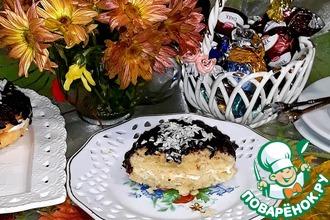 Рецепт: Печенье кокосовое с прослойкой маршмеллоу