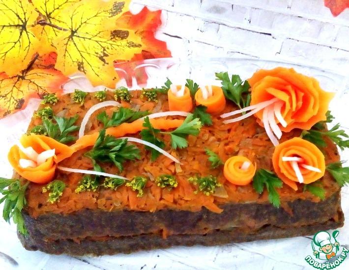 Рецепт: Печеночный торт-запеканка
