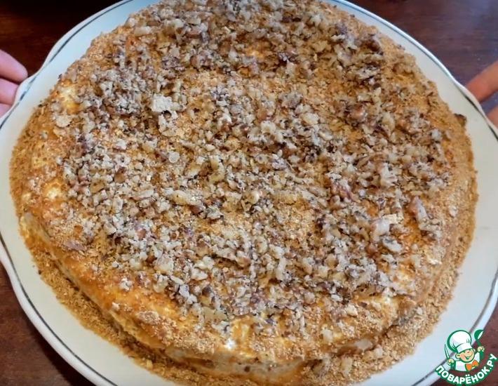 Рецепт: Торт медовик традиционный, с орехами