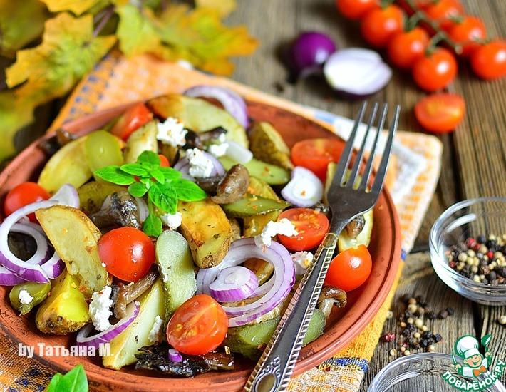 Рецепт: Теплый картофельный салат
